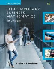 Contemporary Business Mathematics for Colleges. Brief Course