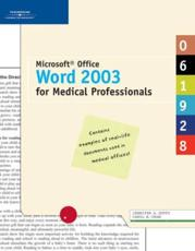 Microsoft Office Word 2003 for Medical Professionals