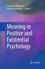 ISBN: 9781493954544 - Meaning in Positive and Existential Psychology