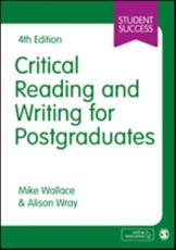 Critical Reading and Writing for Postgraduates