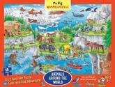 My Big Wimmelpuzzle—Animals Around the World Floor Puzzle, 48-Piece