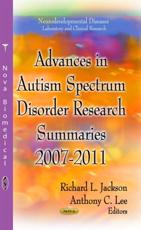 Advances in Autism Spectrum Disorder Research