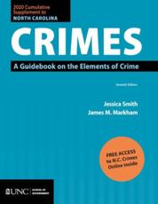 2020 Cumulative Supplement to North Carolina Crimes, Seventh Edition