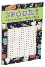Spooky Coloring Book & Word Search
