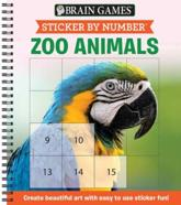 Brain Games - Sticker by Number: Zoo Animals (Square Stickers)