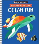 Brain Games - Sticker by Letter: Ocean Fun (Sticker Puzzles - Kids Activity Book)