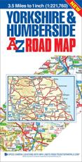 Yorkshire & Humberside A-Z Road Map