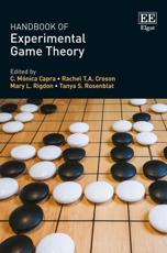 Handbook of Experimental Game Theory