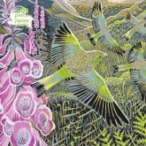 Adult Jigsaw Puzzle Annie Soudain: Foxgloves and Finches