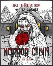 Adult Coloring Book Horror Cabin