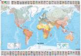 The World - Michelin Rolled & Tubed Wall Map Paper