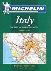 Michelin Italy Tourist and Motoring Atlas