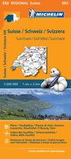 Suisse Sud-Ouest - Michelin Regional Map 552