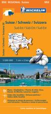 Suisse Sud-Est - Michelin Regional Map 553
