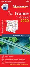 Southwestern France - Michelin National Map 708