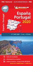 Spain & Portugal - High Resistance National Map 794