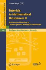 Tutorials in Mathematical Biosciences II Mathematical Biosciences Subseries