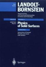 Interaction of Charged Particles and Atoms with Surfaces