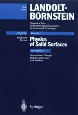 Interaction of Charged Particles and Atoms With Surfaces. Condensed Matter