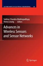 Advances in Wireless Sensors and Sensor Networks