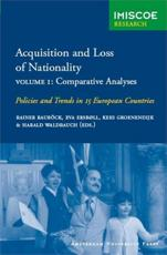Acquisition and Loss of Nationality Volumes 1 + 2