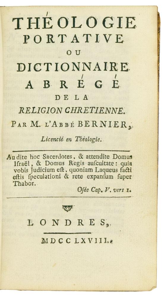 Théologie portative - Blackwell Books Online